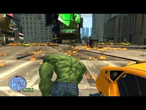 Grand Theft Auto IV - The Incredible Hulk Script (Hulk Enemy VS Hulk MOD) HD