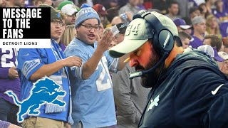 Matt Patrica Says Lions WILL PREVAIL! Message To The Fans! Detroit Lions Talk