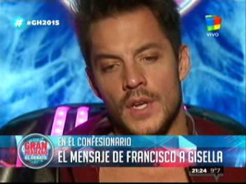 #GH2015: Francisco Delgado le mandó un mensaje a Gisela Bernal