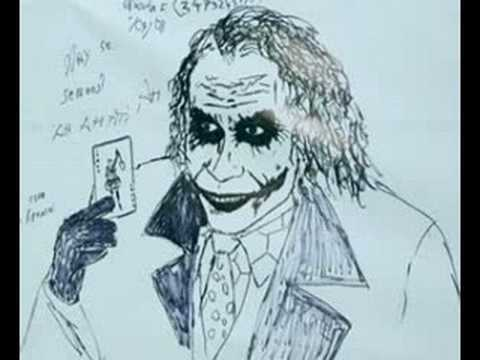 Joker drawn by Heath Ledger himself when he was alive. Video