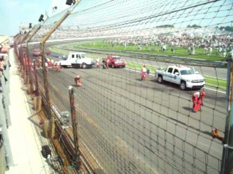 Mike Conway's Crash at the 2010 Indianapolis 500 Video