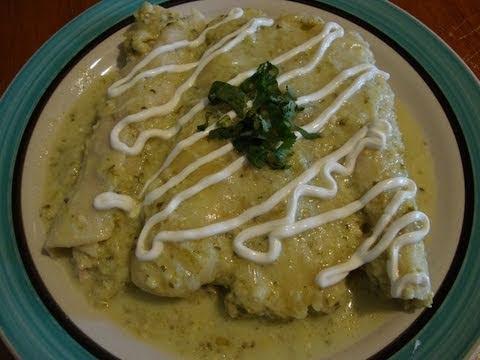 Receta de enchiladas suizas - Cocina mexicana