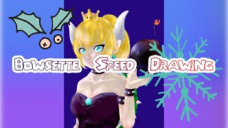 Bowsette Speed Drawing【 カズ葉っぱ 】
