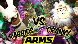 ABM: Rabbid Pranks Cranky !?! Cranky Kong Vs Rabbid !! ARMS Gameplay!! HD