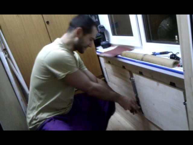 Как сделать стол на балконе видео..