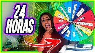 24 HORAS COMENDO O QUE A ROLETA MANDAR !!!