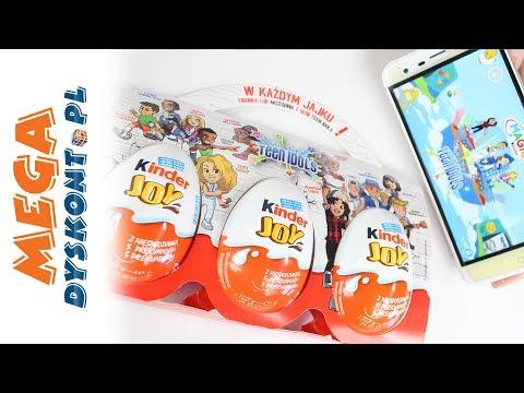 Kinder Joy Z Aplikacją Magic Kinder - Teen Idols - Unboxing I Gry Na Telefon