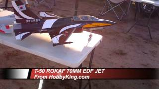 T-50 RoKaf RC 70mm EDF Jet - Retracts - Canopy - Maiden Flight 7-10-2011