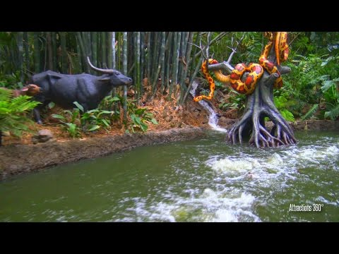 [4K] Jungle Cruise Ride at Disneyland May 2016