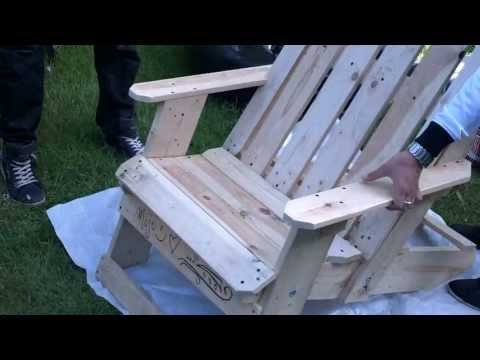 How to build an Adirondack Chair Part 1 SAVE MONEY build your own