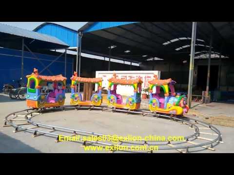 Exlion amusement park attraction kids favorite track train rides