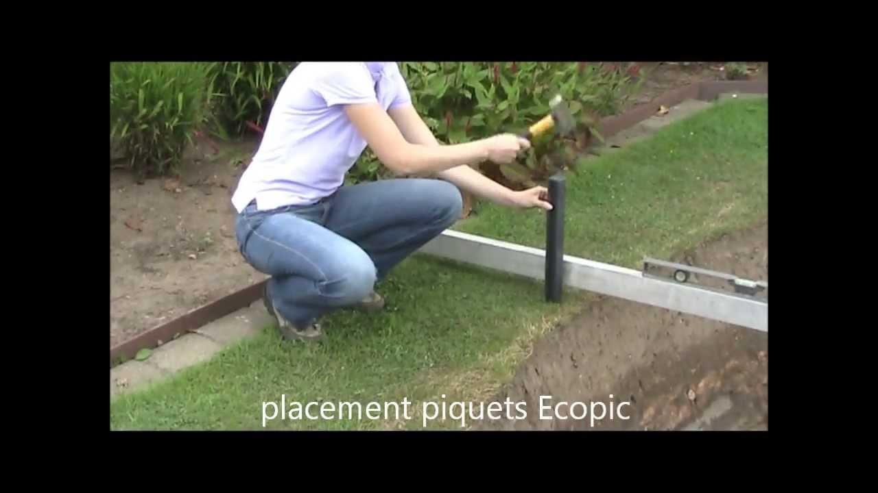 Ecolat et ecopic utilisation pour bordures pour tang et for Bordure jardin beton