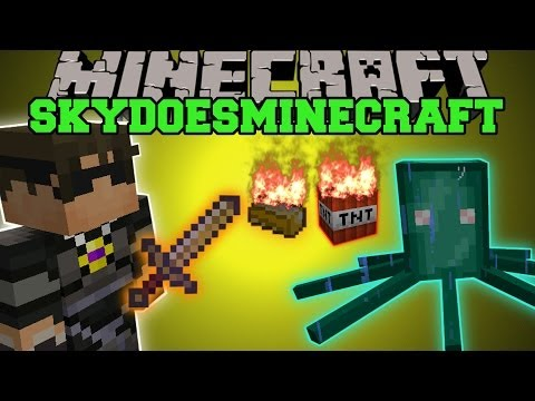 Minecraft: SKYDOESMINECRAFT MOD (BUDDER EXPLOSIVES. SQUID BOSS. & MORE!) Team Crafted Mod Showcase