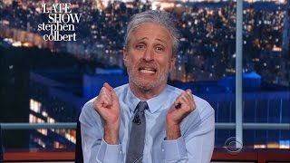 Jon Stewart To The Media: It's Time To Get Your Groove Back by : The Late Show with Stephen Colbert