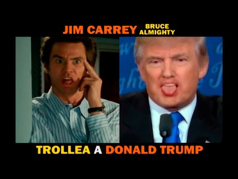 Jim Carrey (Bruce Almighty) Trollea a Donald Trump
