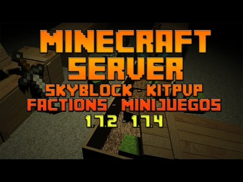 Minecraft Server Skyblock - Factions - Minijuegos 1.7.2 | No Premium - No hamach