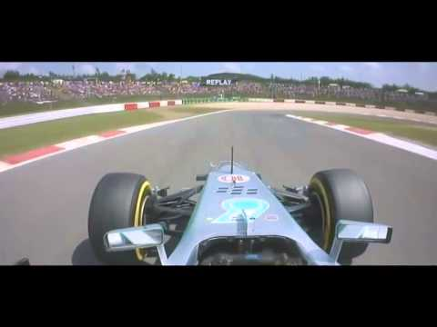 2013 German GP Lewis Hamilton Pole Position Lap Onboard