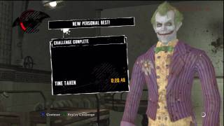 Batman Arkham Asylum Paging Dr. Joker Challenge (20.48s - 78r) Gameplay Walkthrough Video in HD