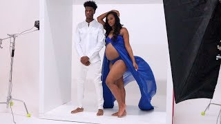 BEHIND THE SCENES OF OUR MATERNITY PICTURES!!!