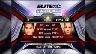 Cung Le vs. Tony Fryklund - Part 1