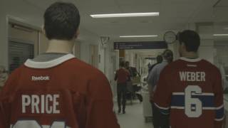 Shea Weber, Canadiens make annual hospital visit
