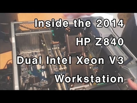 Inside the Z840 Dual Xeon Workstation - 2014 HP Z840, Z640, Z440 Desktop Workstations