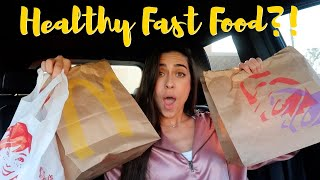 Eating Healthy Fast Food Meals for 24 Hours! | Coronavirus Quarantine Food
