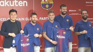 楽天とバルセロナがパートナーシップ契約