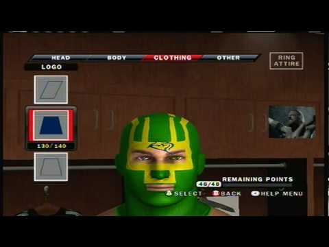 Smackdown Vs Raw 2010 Caw how to make Kick Ass part 2/5
