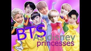 BTS as disney princesses