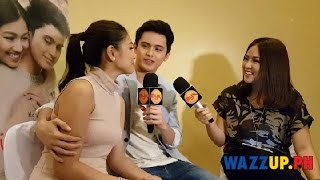Part 11 This Time Movie Presscon: James Caressing Hand Over Nadine During Interview by Myx