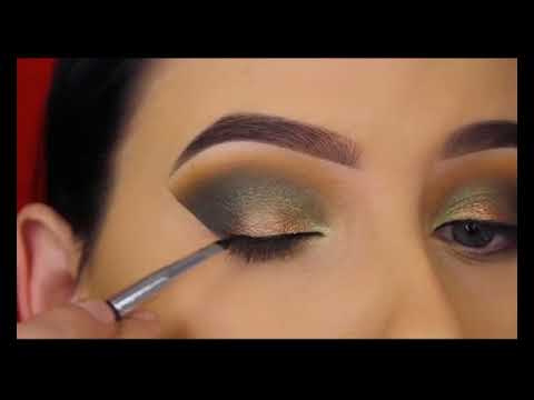 Smokey Golden Olive Eye Makeup Tutorial   ABH Subculture Palette 41