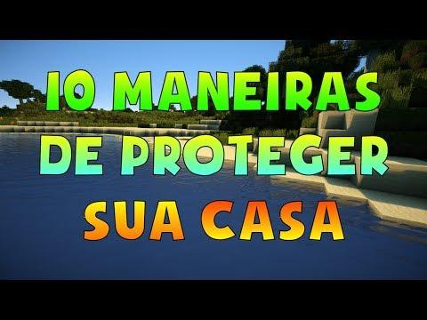 10 MANEIRAS DE PROTEGER SUA CASA NO MINECRAFT