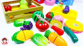Toy Velcro Cutting Fruits Vegetables Blender Mixer Learn names of fruits and vegetables