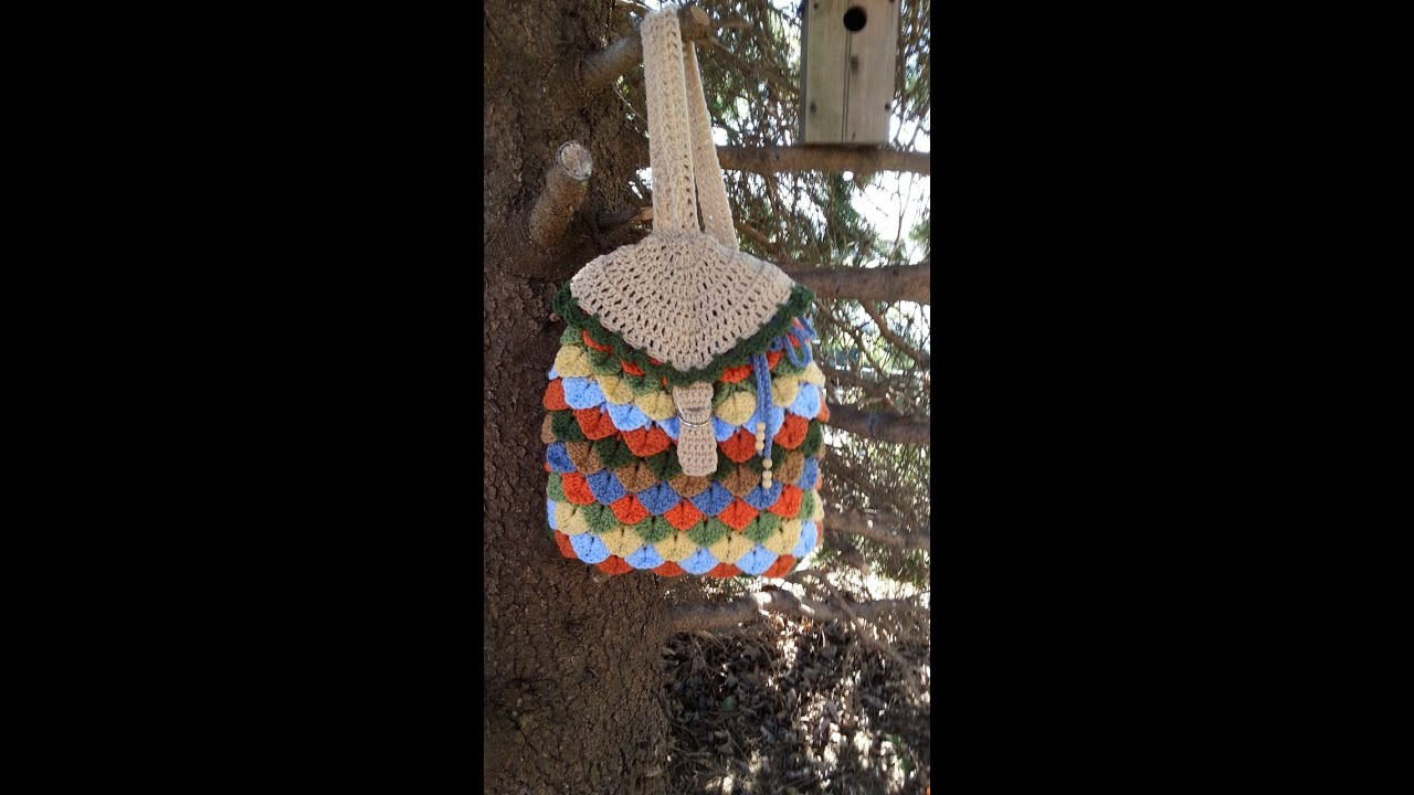 Free Crochet Patterns For Backpack Purse : #Crochet Crocodile Stitch Back Pack #TUTORIAL #backpack # ...