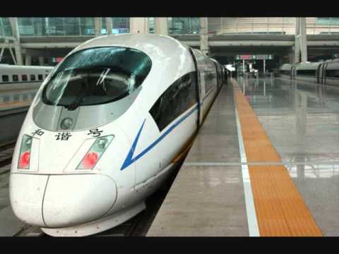 Picture of a Chinese High Speed Train