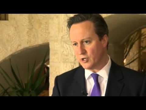 David Cameron and Tony Blair on the Israeli-Palestinian peace process