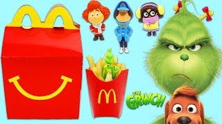 Dr. Seuss THE GRINCH McDonalds Happy Meal Surprise Toys Opening!