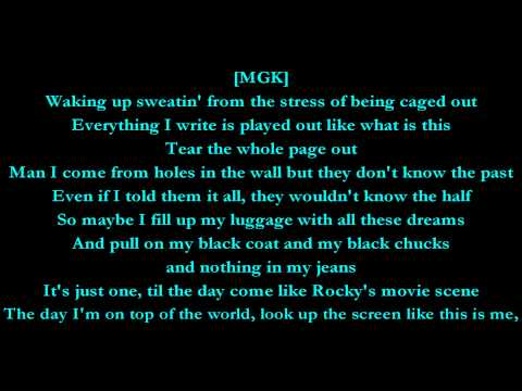 Invincible - Machine Gun Kelly Feat. Ester Dean (lyrics) Hd video