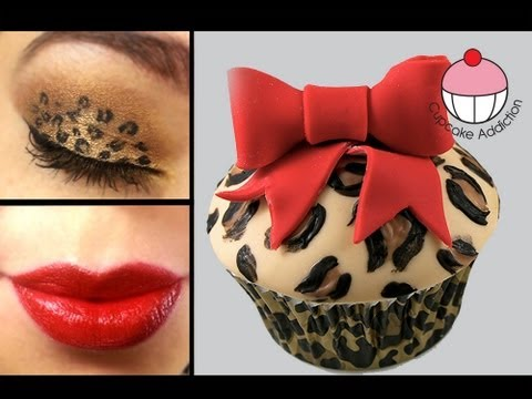 Leopard Print Cupcakes And