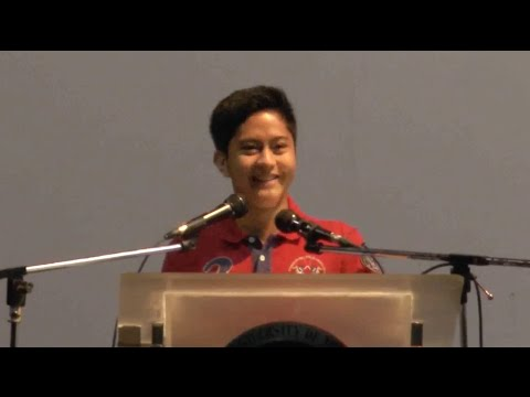 Sen. Bongbong Marcos - Sandro's Speech at PUP