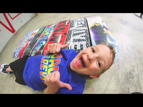7 Year Old Picks My Skateboard!