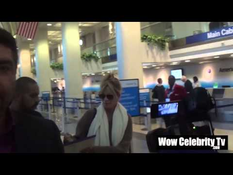 Melanie Griffith spotted landing at LAX Airport