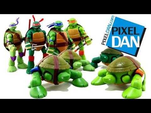 Teenage Mutant Ninja Turtles Mutations Pet Turtle to Ninja Turtles Figures Video Review