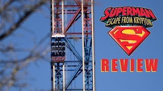 Superman: Escape From Krypton Review Six Flags Magic Mountain