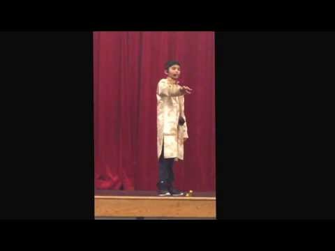 Rushil Jha Reciting Hindi Poem During Hindi Usa Poem Competition In Stamford, Cton Jan 17, 2014 video
