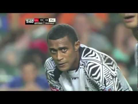 CUP FINAL. Fiji vs Wales 2nd Half + Post-game Celebrations. Hong Kong 7s 2013