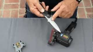 Outdoor Knife Sharpening using the Work Sharp Knife Sharpener