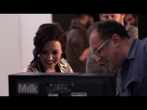 Demi Lovato Behind The Scenes of Photo Shoot For NYC New York Color Cosmetics Beauty