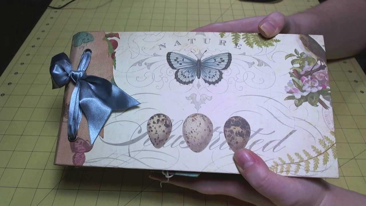 Scrapbook Album Completed Quot Flora Amp Fauna Quot Paper Bag Album